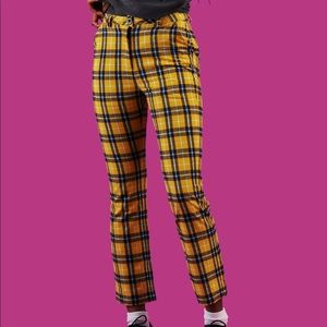 UNIF Dawson yellow plaid pants